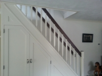 Klassieke trap met trapkast