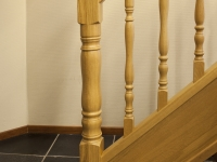 Eiken balustrade