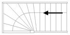 Trap met bovenkwart links