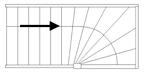 Trap met bovenkwart rechts