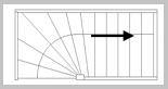Trap met onderkwart rechts